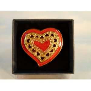 Tiny Heart shaped Jewel Box