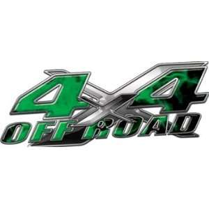 Full Color 4x4 Offroad Truck Decals in Inferno Green