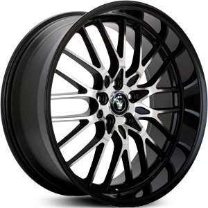16 KONIG LACE RIMS WHEELS BLACK 16x7 5x110 +40