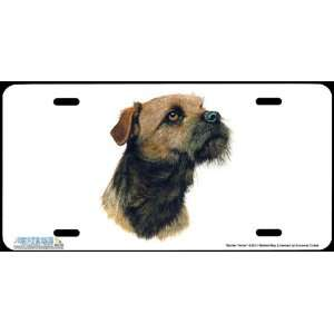 4252 Border Terrier Dog License Plate Car Auto Novelty Front Tag by