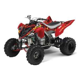 AMR Racing Yamaha Raptor 700 ATV Quad Graphic Kit   Motorhead Red