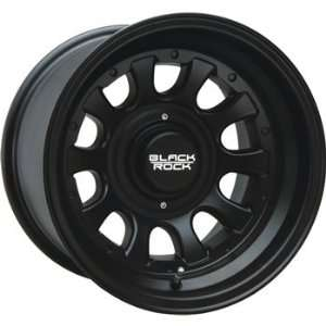Black Rock Type D Alloy 15x8 Black Wheel / Rim 5x5 & 5x5.5