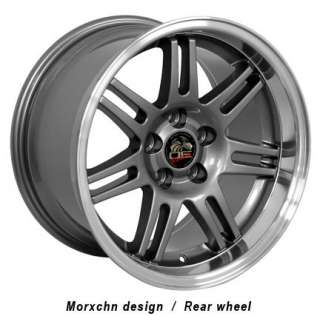 17 9/10 Gunmetal 10th Anniversary Wheels Nexen Tires Rims Fit Mustang