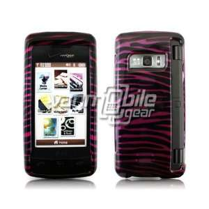 PINK BLACK ZEBRA PRINT DESIGN CASE + LCD SCREEN PROTECTOR
