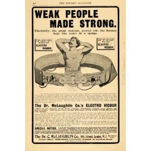 1903 Ad Weak People Strong Electro Vigour Belt London