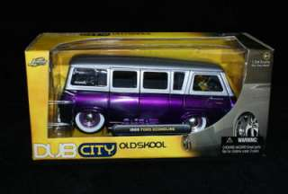 1965 Ford Econoline Purple Silver DUB City 124 Scale
