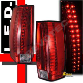2007 2011 CADILLAC ESCALADE ESV LED TAIL LIGHTS LAMPS RED 1 PAIR