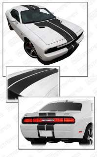 Dodge Challenger Rally Stripes Decals 2008+ 2010 2011