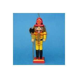 Pack of 12 Wooden Fireman with Axe Nutcracker Christmas Ornaments 5