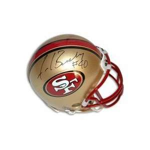 Autographed San Francisco 49ers Mini Football Helmet