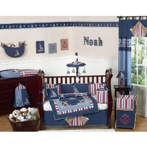 Nautical Nights 9 Piece Boy Crib Bedding Set Baby