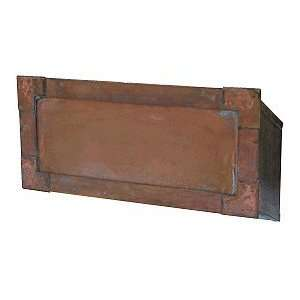 Streetscape Solid Acid Washed Brass Mail Slot Patio, Lawn