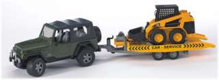 New Bruder JEEP Wrangler Unlimited and CAT Skid steer loader #02923