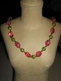 John Wind Maximal Art Palm Beach Glass Bead Necklace
