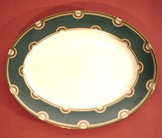 Kate Spade Corona Grove Aqua Oval Serving Platter New