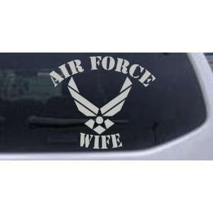 Air Force Wife Military Car Window Wall Laptop Decal Sticker    Silver