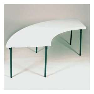 Blow Molded Plastic Folding Table 30X 96 Serpentine
