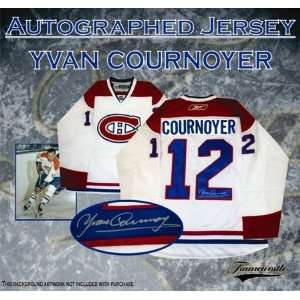 Yvan Cournoyer Autographed/Hand Signed Jersey Canadiens