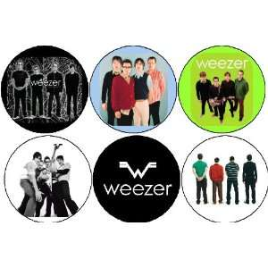 Set of 6 WEEZER 1.25 MAGNETS Alternative Rock Band