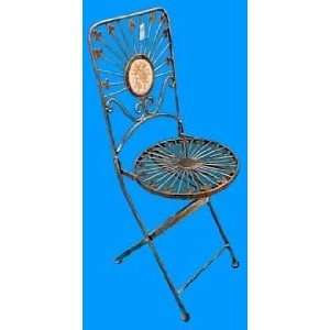 Set of 2 Luxurious Italian Style Folding Metal Patio Chair