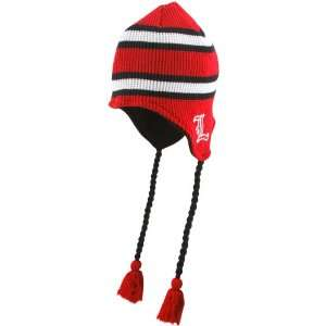 Cardinals Red Striped Waffler Toboggan Knit Beanie