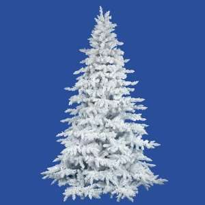 10 Flocked White Spruce Artificial Christmas Tree   Unlit