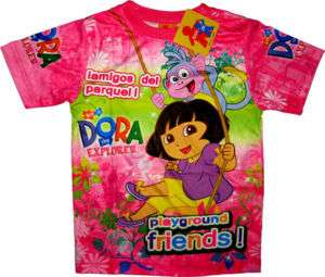 DORA THE EXPLORER Kids Girls T Shirts Tops XL Age 8 10