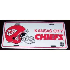 KANSAS CITY CHIEFS NFL FOOTBALL LICENSE PLATE Everything