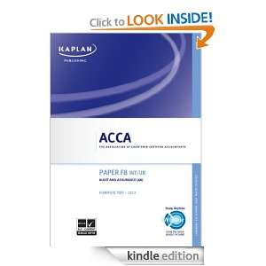 ACCA Complete Text   F8 INT / UK Audit and Assurance Kaplan