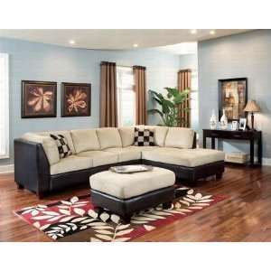 Thomas 2 Piece Two Tone Left Angle Facing Sofa Sectional