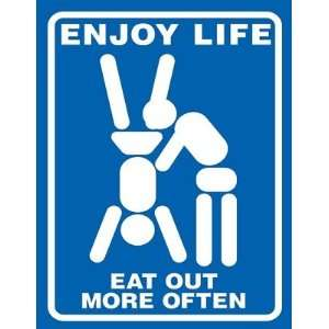 Magnet (Large) ENJOY LIFE   EAT OUT MORE OFTEN