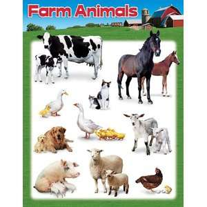 17 Pack TREND ENTERPRISES INC. LEARNING CHART FARM ANIMALS
