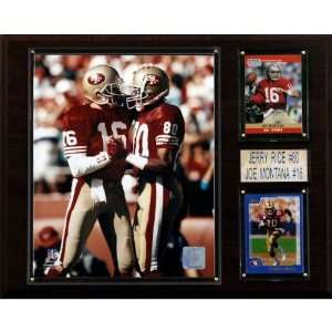 NFL Montana Rice San Francisco 49ers Player Plaque