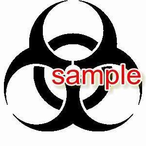 BIOHAZARD SIGN WHITE VINYL DECAL STICKER