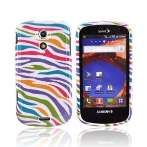RAINBOW ZEBRA WHITE For Samsung Epic 4G Hard Case Cover