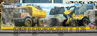 WOW *** NEW TONKA DUMP TRUCK & FRONT LOADER COMBO SET *** MADE OF