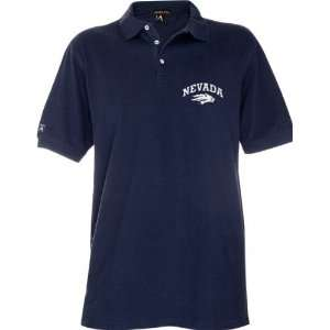 Nevada Wolf Pack Navy 2010 Classic Pique Stainguard Polo
