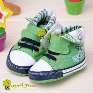 New Blue Toddler Baby Boy shoes Sneaker soft sole(D92)size 2 4