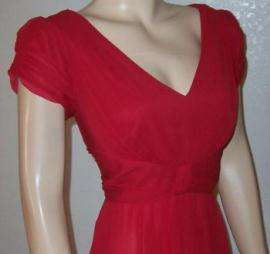 SUZI CHIN ~NEW~ SILK TOMATO RED DRESS SZ 8