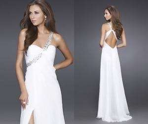 Evening Ball Dress Gown Wedding Dress Party Prom One Shoulder and