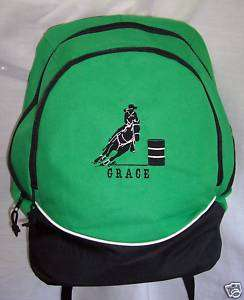 PERSONALIZED Barrel Racing HORSE Backpack book bag NEW