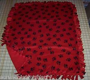 Hand Tied Fleece Baby Pet Dog Blankets You Choose Print
