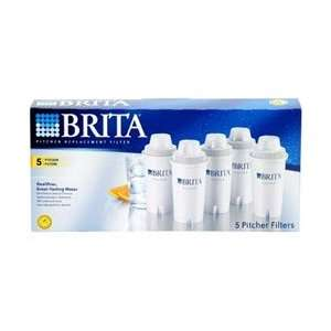 Brita Replacement Filter, Pitcher, 5 ea