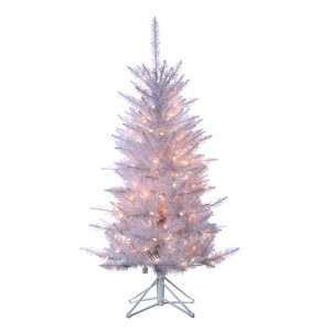 Tiffany Tinsel Artificial Christmas Tree  Clear Lights