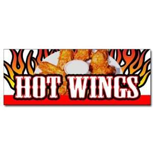 HOT WINGS 1 DECAL sticker buffalo spicy chicken crispy sauce hot sauce
