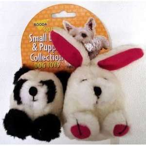 Booda Squatters Panda and Rabbit Small Dog Toys 2 Pack