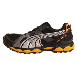 Puma Fox Black Mesh Grey Gold Silver 2011 Mens Trail Running Shoes