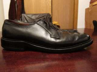 Vtg Allen Edmonds Leeds Mens Black Job Interview Oxford Dress Shoes Sz