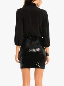 NWT MARCIANO GUESS KATE SEQUIN RUNWAY DRESS BLACK S M HOT LAST1 FOR