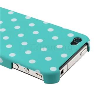 Blue/White Dot Hard Case+Privacy Filter Screen Protector For Apple